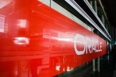Główne wejście Oracle OpenWorld konferencja przy Moscone północą obrazy royalty free