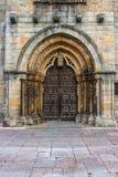 Główne wejście romanesue kościół Santa Maria de los angeles Oliva Zdjęcia Stock