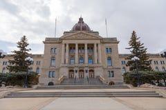 Główne Wejście Saskatchewan Prawodawczy budynek Zdjęcie Royalty Free