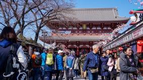 Główne wejście Sensoji świątynia obraz stock