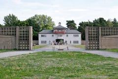 Główne wejście w nazisty obozie Zdjęcia Stock