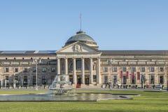 Główne wejście Wiesbaden kasyno fotografia stock