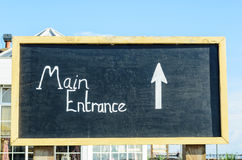 Główne Wejście znak Zdjęcie Royalty Free