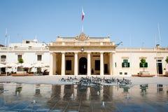 Głównego strażnika budynek w pałac kwadracie, Valletta, Malta wyspa Obrazy Royalty Free