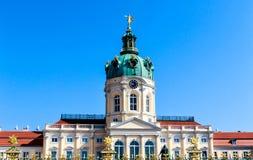 Głównego wejścia podwórze Charlottenburg pałac w Berlin, Niemcy Obrazy Royalty Free