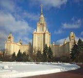 Główny budynek Lomonosov Moskwa stanu uniwersytet MGU moscow Rosji fotografia stock