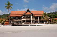 główny budynek na plaży kurort obraz stock