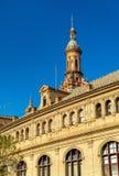 Główny budynek Plac De Espana, architektura kompleks w Seville, Hiszpania - obraz royalty free