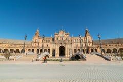 główny budynek przy Palaza De Espana, Seville fotografia royalty free