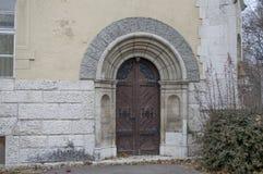 Główny drzwi zamyka obraz royalty free