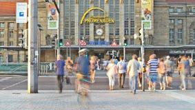 Główny dworca budynek w Leipzig fotografia stock