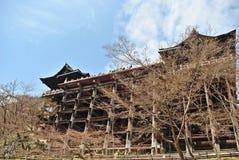 Główny Hall Kiyomizu świątynia w jesień sezonie Obraz Stock
