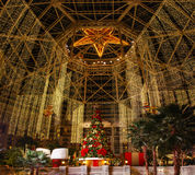 Główny Hall w Gaylord Teksaskim kurorcie, winorośl, Teksas, usa Grudzień, 7 2012 obrazy stock