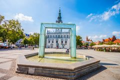 Główny miasto kwadrat - urząd miasta w Chelmno Fotografia Stock
