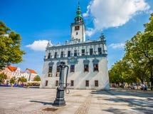 Główny miasto kwadrat - urząd miasta w Chelmno Obraz Stock