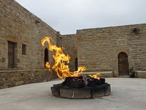 Główny ołtarz świątynny Ateshgah Pożarnicza świątynia Surakhani, Azerbejdżan zdjęcie royalty free