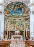 Główny ołtarz w Duomo Spoleto Umbria, środkowy Włochy obrazy royalty free