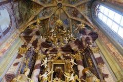 Główny ołtarz w kościół Niepokalany poczęcie w Lepoglava, Chorwacja Obrazy Royalty Free