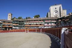Główny plac Chinchon nawracał w bullring, Hiszpania Zdjęcie Royalty Free