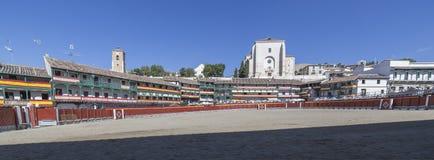 Główny plac Chinchon nawracał w bullring, Hiszpania Zdjęcia Royalty Free