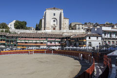 Główny plac Chinchon nawracał w bullring, Hiszpania Zdjęcie Stock