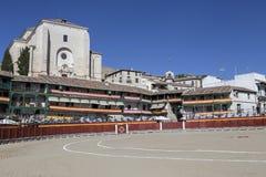 Główny plac Chinchon nawracał w bullring podczas sławy Zdjęcia Royalty Free