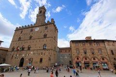 Główny plac Volterra, Tuscany Zdjęcia Royalty Free