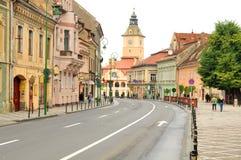 Główny plac w Brasov, Rumunia Zdjęcia Stock