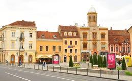 Główny plac w Brasov, Rumunia Zdjęcie Royalty Free