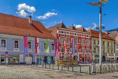 Główny plac w Leoben, Austria obraz royalty free