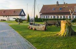 Główny plac w Nida, Lithuania Obraz Royalty Free