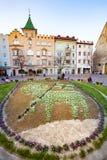 Główny plac w Ortisei, Włochy zdjęcie royalty free