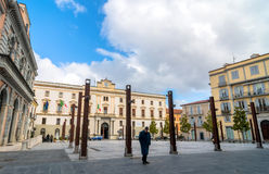 Główny plac w Potenza, Włochy obraz stock