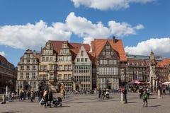 Główny plac w starym miasteczku Bremen Obrazy Royalty Free