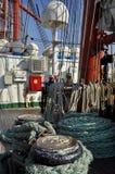 Główny pokład Sedov wysoki statek Zdjęcia Royalty Free
