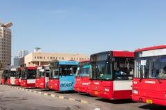 Główny przystanek autobusowy w Kuwejt mieście Zdjęcia Royalty Free