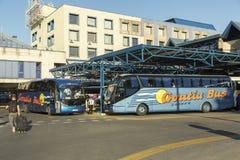 Główny przystanek autobusowy w Zagreb, Chorwacja zdjęcie royalty free