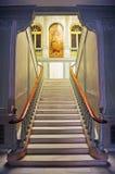 Główny schody w Biskupim pałac w Ciudad Real, Castilla los angeles Mancha, Hiszpania Zdjęcia Stock