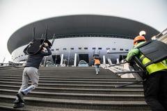 Główny stadion futbolowy dla pucharu świata 2018 Obraz Royalty Free