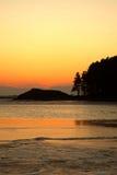głąb lądu nad dennym wschód słońca Zdjęcie Royalty Free