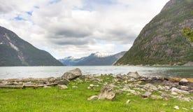 Głębia Eidfjord Fotografia Royalty Free