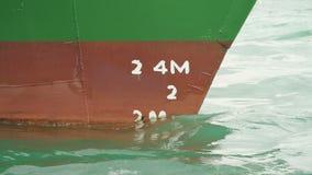Głębia markier na prow statek zbiory wideo