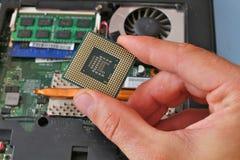 głębii śródpolnej ręki procesoru płycizna zdjęcia royalty free
