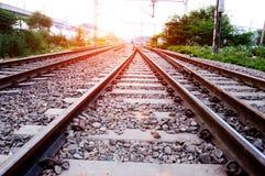 głębii śródpolny kolei płycizny ślad Obraz Royalty Free