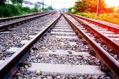 głębii śródpolny kolei płycizny ślad Zdjęcie Stock
