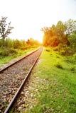głębii śródpolny kolei płycizny ślad Zdjęcie Royalty Free