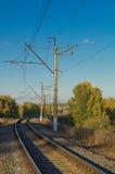 głębii śródpolny kolei płycizny ślad Zdjęcia Royalty Free