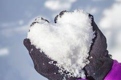 głębii śródpolny serca płycizny śnieg Zdjęcie Royalty Free