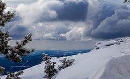 głębocy śniegi zdjęcia royalty free