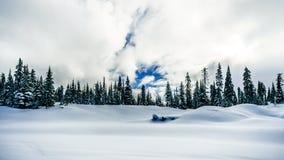 Głęboka śnieg paczka w Wysoki Alpejskim obrazy stock